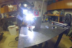 My dad, aluminum, and motorcycle building.