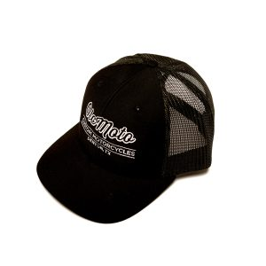 OLCMOTO Double Black Snap Back Trucker Hat